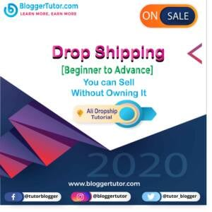 Blogger Tutor - Learn More, Earn More Drop Shipping scaled