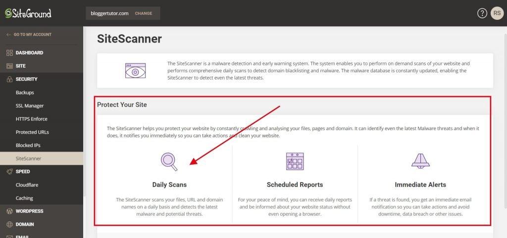 Siteground Tools - Site Scanner