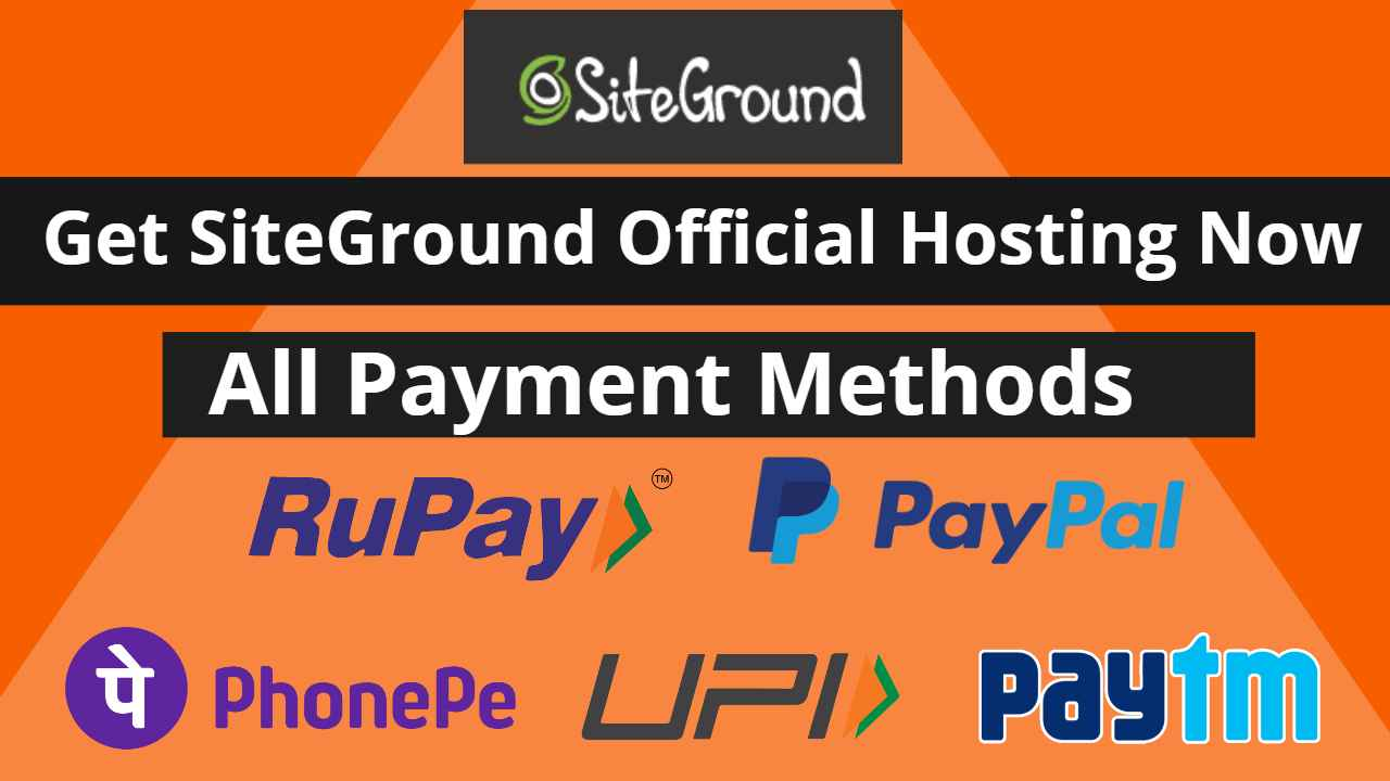 buy Siteground hosting in India