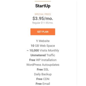 Siteground Startup