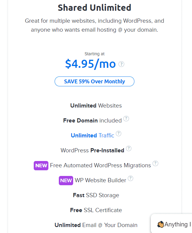 Dreamhost Shared Unlimited