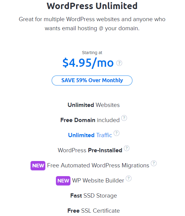 Dreamhost Wordpress Unlimited