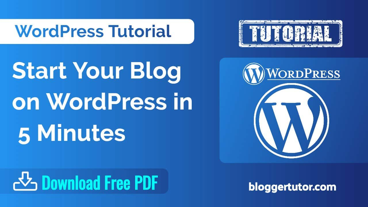 WordPress Tutorial with Free PDF Download