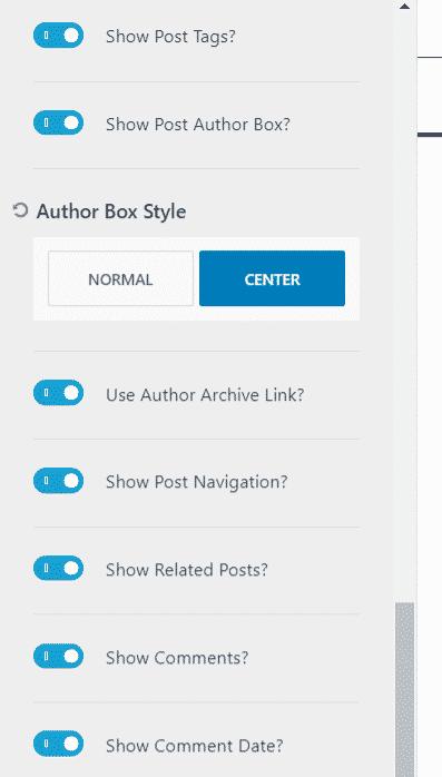 Kadence Author Box Layout