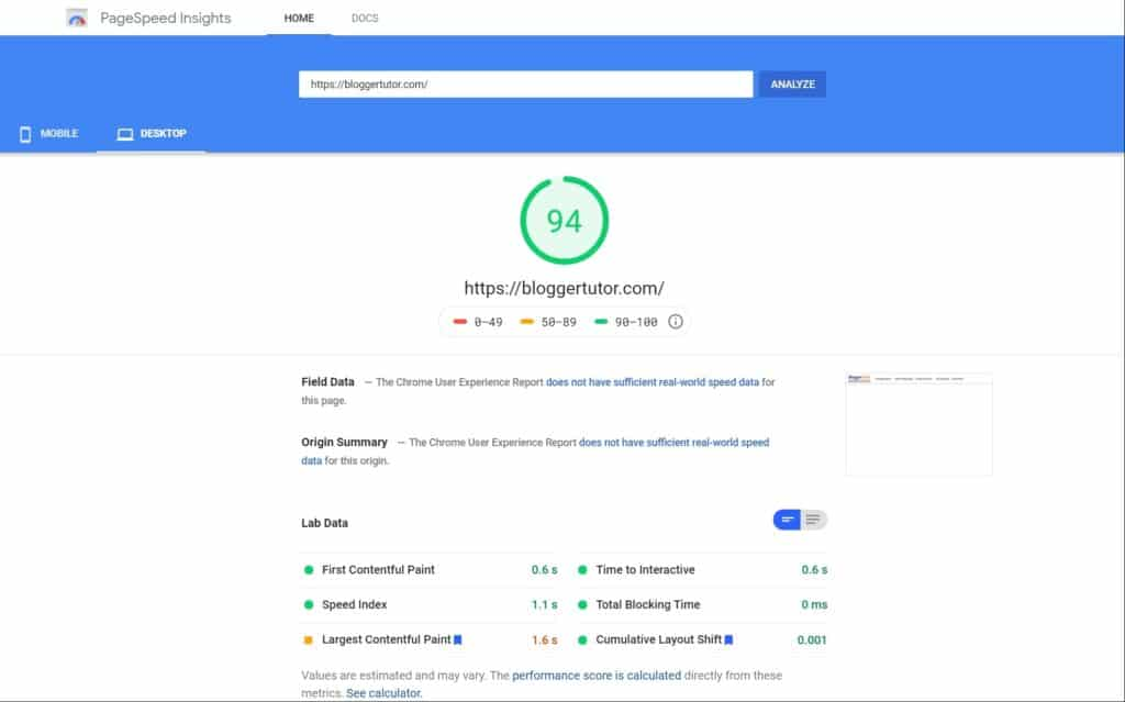 Kadence Vs Generatepress Theme- Complete Detailed Review Of 2021 Desktop Speed Test Of Kadence Theme By Pagespeed Insights