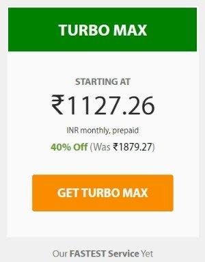 A2hosting Turbo Max Plan