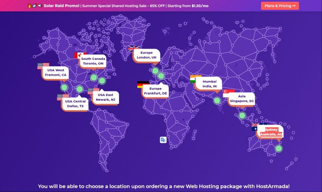 Server Location of HostArmada