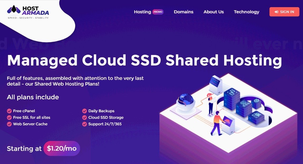 Cloud-SSD-Shared Hosting by HostArmada