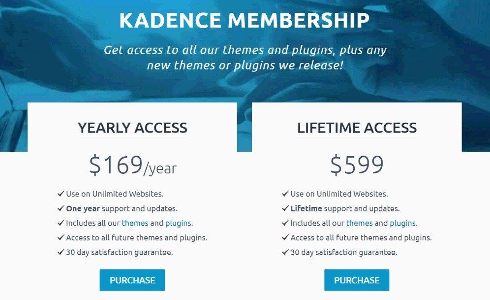 KadenceWP Membership Discount Offer