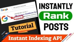 How to Setup Instant Indexing