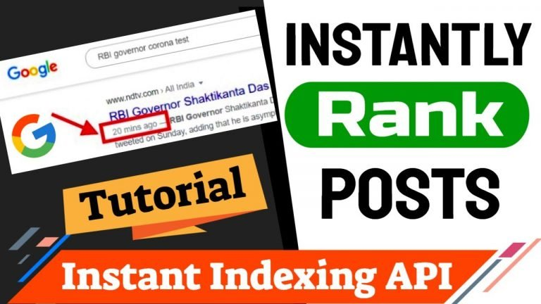 How To Setup Instant Indexing Plugin By Rankmath To Index Article Instantly