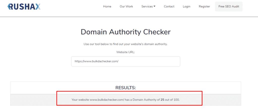 7 Best Domain Authority Checker Tools For 2021 Rushax Da Checker