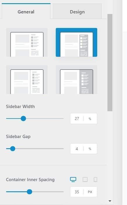 Blocksy Sidebar Layout-
