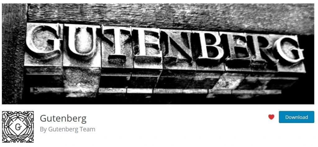 Gutenberg – WordPress plugin _ WordPress.org -