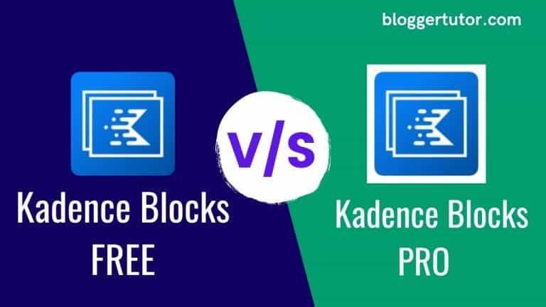 Kadence Blocks Free vs Pro Feature Comparison and Review – Block Editor Addon