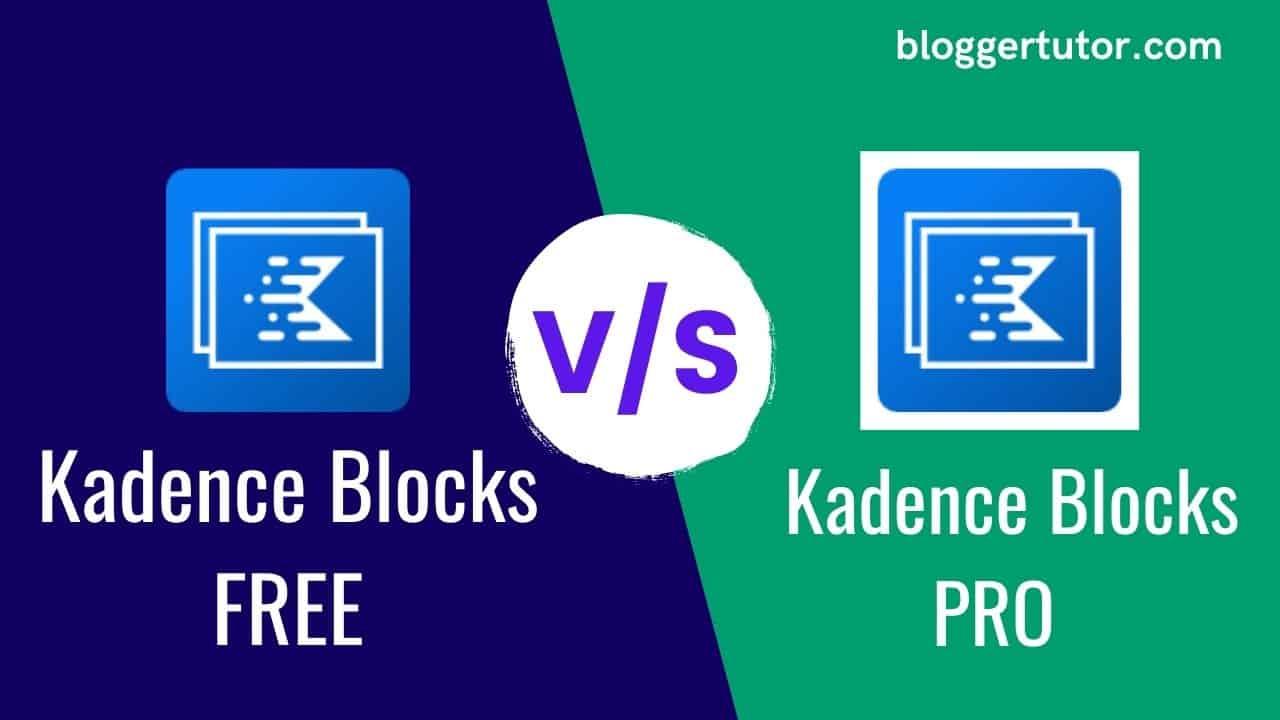 Kadence Blocks Free vs Pro